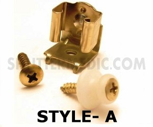 Shutter Catch w/ Screw and Button - Style A