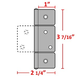 "H33 Three Leaf Hinge (3 1/2"")"