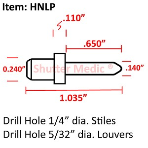 Hidden Tilt Rod Louver Pin