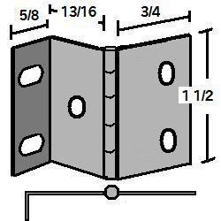 "H1-58  Wrap Around Hinge  (1 1/2"")"