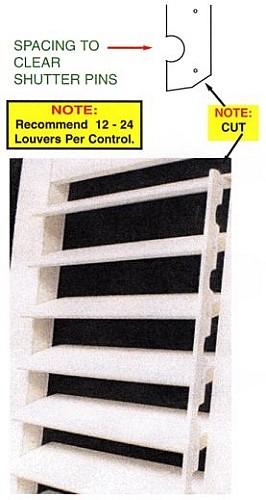 hidden tilt rod 2 inches on center